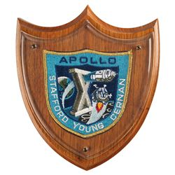 Gene Cernan's Flown Apollo 10 Patch