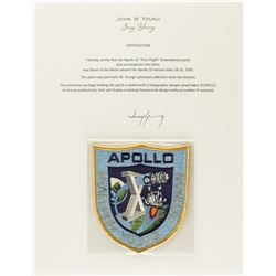 John Young's Apollo 10 Flown 'Post-Flight' Patch