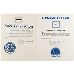 Apollo 11 and 17 Flown Film Fragments