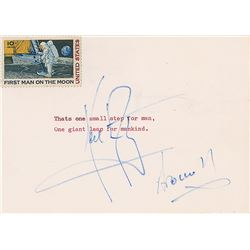 Neil Armstrong Typed Quote Signed