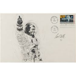 Paul Calle Signed Sketch of Neil Armstrong