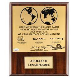 Buzz Aldrin Signed Lunar Plaque