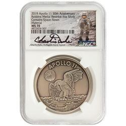 Apollo 11 Robbins Medal Restrike Signed by Charlie Duke