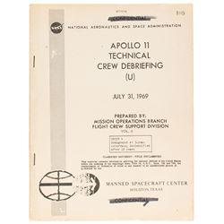 Apollo 11 Technical Crew Debriefing