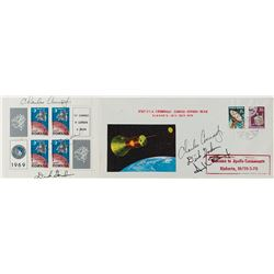 Apollo 12 Signed Cover and Stamp Block