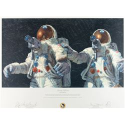 Alan Bean and Charles Conrad Signed Print