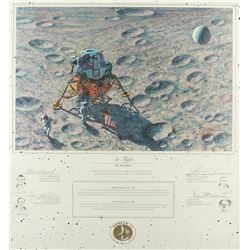 Apollo 14 Signed Lithograph by Alan Bean