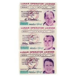 Apollo 15 Lunar Operator Licenses