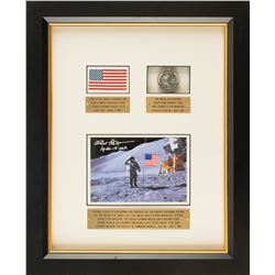 Dave Scott's Apollo 15 Flag and Robbins Medal Display