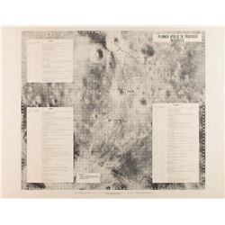 Apollo 16 Group of (3) Traverse Maps