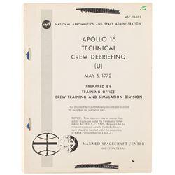 Apollo 16 Technical Crew Debriefing