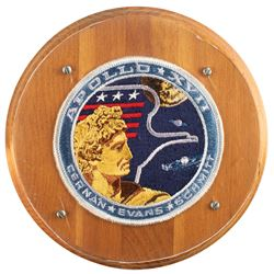 Gene Cernan's Flown Apollo 17 Patch