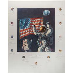 Apollo Astronauts Signed Print
