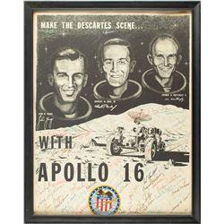 Astronauts Signed Apollo 16 Poster