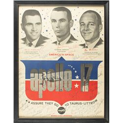 Astronauts Signed Apollo 17 Poster