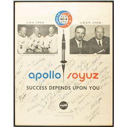Astronauts Signed Apollo-Soyuz Poster