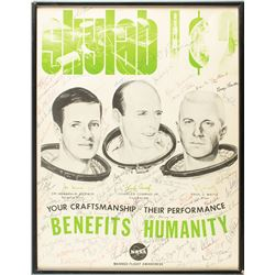 Astronauts Signed Skylab 1 and 2 Poster