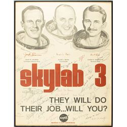 Astronauts Signed Skylab 3 Poster