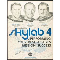 Astronauts Signed Skylab 4 Poster