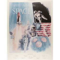 Naval Aviation in Space Signed Print
