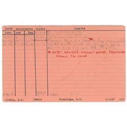 NASA Astronaut Fitting Cards