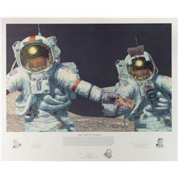 Moonwalkers: Bean, Cernan, and Schmitt Signed Print