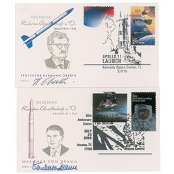 Rocket Scientists: von Braun and Oberth Signed Cards