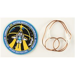 STS-131 Flown Wire Tie and Patch
