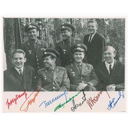 Cosmonauts Signed Photograph