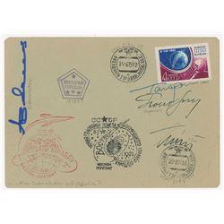 Yuri Gagarin and Cosmonauts Signed Cover