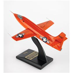Chuck Yeager Signed Bell X-1 Rocket Research Plane Model
