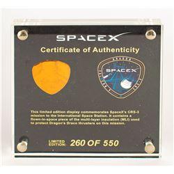 SpaceX Dragon CRS-3 Flown MLI Foil Employee Presentation