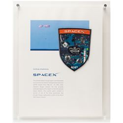 SpaceX Dragon Employee Parachute Patch with Flown Parachute