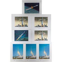 Douglas Aircraft Company Prints of Launch Vehicles
