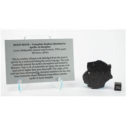 NWA 5406 Lunar Meteorite Slice