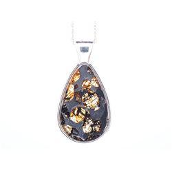Pallasite Meteorite Pendant