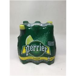Perrier Lemon Carbonated Natural Spring Water (6 x 500mL)