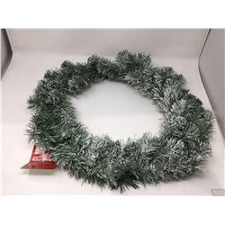"""Home Accents Holiday 26"""" Flocked Wreath"""