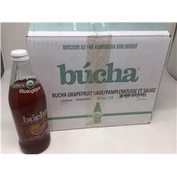 Case of Bucha Grapefruit Sage Kombucha Tea (12 x 473mL)