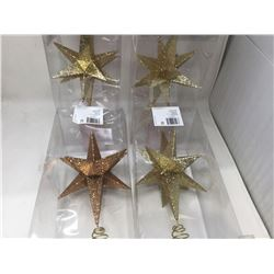 "Home Accents Holiday 14"" Glitter Tree Toppers Lot of 4"