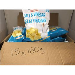 Case of Circle K Salt and Vinegar Chips (15 x 180g)