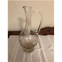 Glass decanter and 6 wine glasses