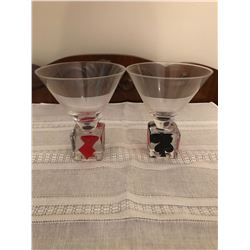 2 Martini glasses