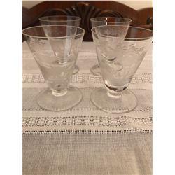 4 small glasses