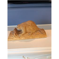 Wood Carved Beaver