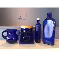4 Blue Dishware
