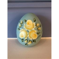 Painted Ceramic Egg