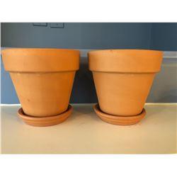 2 Terra Cotta Pots