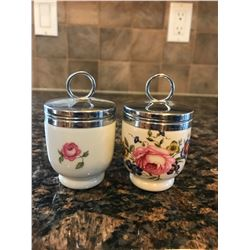 Floral egg cups