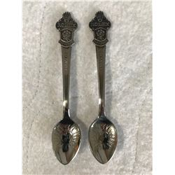 2 small silver Rolex spoons